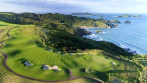 Golf tours kauri cliffs world class courses New Zealand self drive golf luxury exclusive tours 5 star hotels