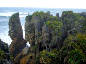 Punakaiki Pancake Rocks West Coast New Zealand travel route self drive holiday private customized tours new zealand top travel agency best tours day excursions cruise