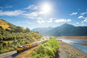 Tranz Alpine Scenic Train new zealand raillway tours self drive experience tour operator rental car tours roundtrips new zealand holiday journey