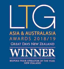 award winner bespoke tour operator of the year new zealand best tour operator