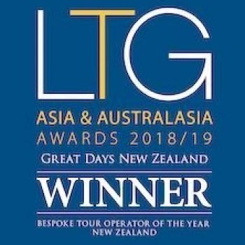 Award Winner - Bespoke Tour Operator of the Year New Zealand